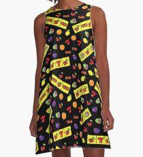 Vestido acampanado Casino Lucky Slot Machine Cherry Melon Lemon Fruits Pattern