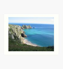 Treen beach from the cliffs Art Print