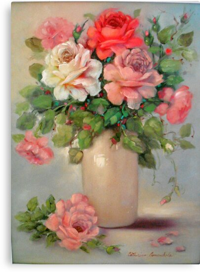 Multi Colored Roses by Cathy Amendola