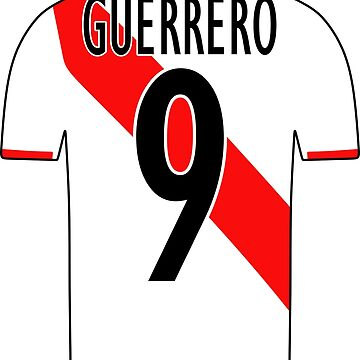 Peru Sticker – Paolo Guerrero 9 Peruvian Soccer Team Peruvian Flag Futbol Football by HallelujahTees