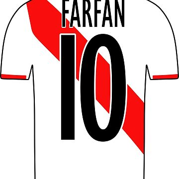 Peru Sticker – Farfan 10 Peruvian Soccer Team Peruvian Flag Futbol Football by HallelujahTees