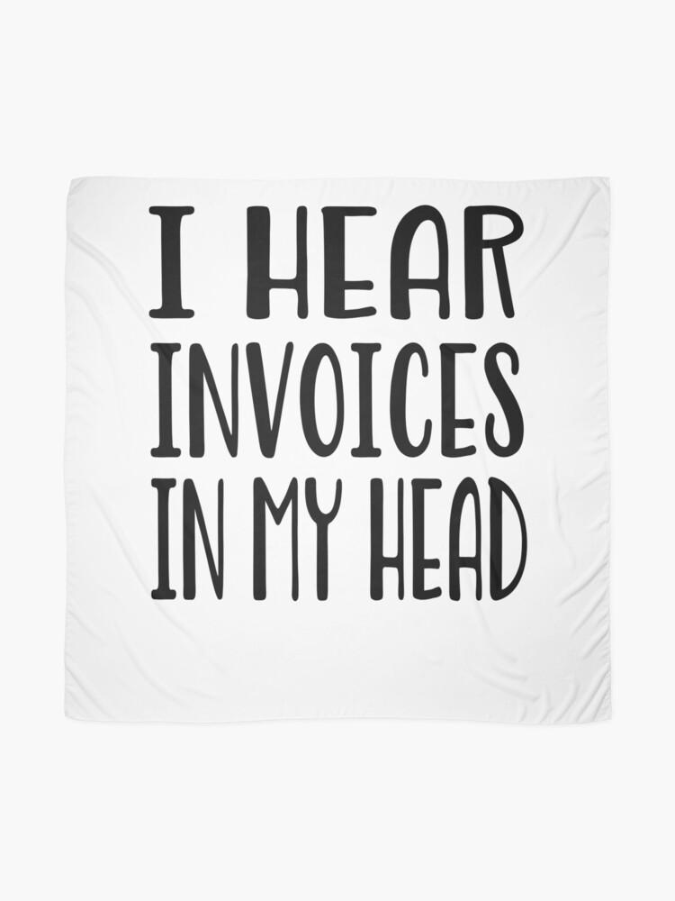 Alternative Ansicht von Ich höre Rechnungen in meinem Kopf - lustiges Rechnungshemd Tuch