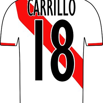 Peru Sticker – Carrillo 18 Peruvian Soccer Team Peruvian Flag Futbol Football by HallelujahTees