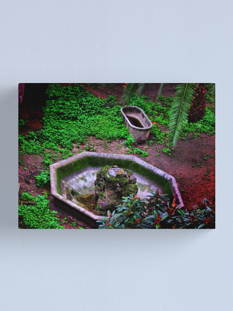 Alternate view of abandoned in a garden of Rome... Canvas Print