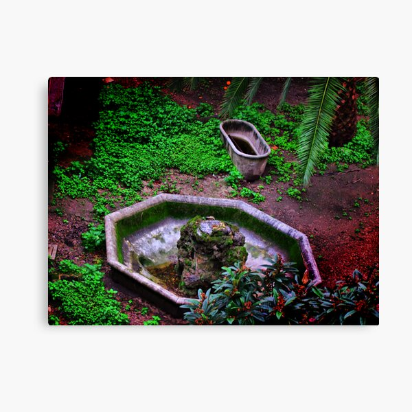 abandoned in a garden of Rome... Canvas Print