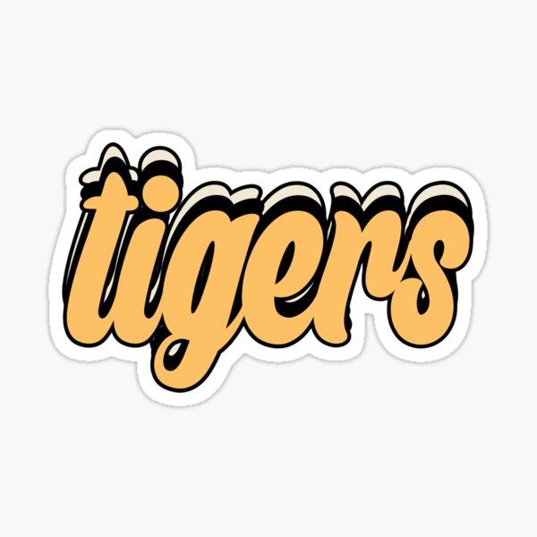 Tigers Retro Sticker