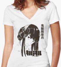 Satsuki Kiryuin Women's Fitted V-Neck T-Shirt