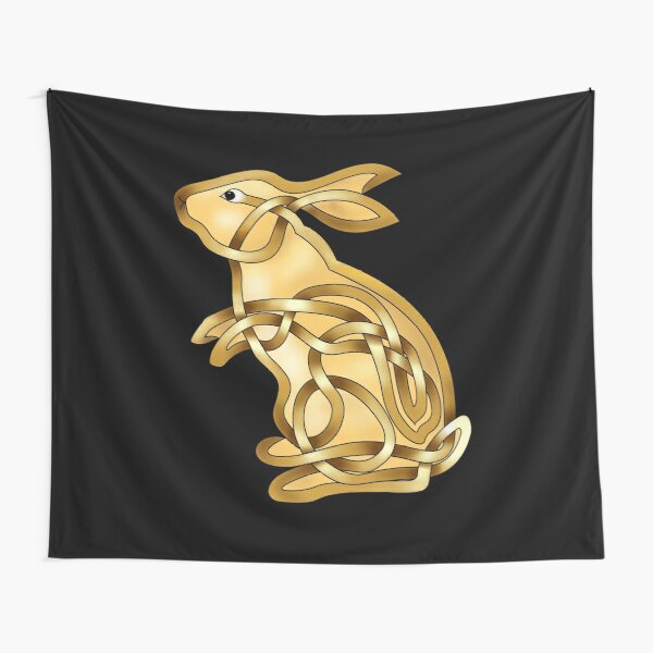 Celtic Knot Standing rabbit Tapestry