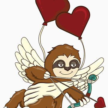 Sloth Cupid Valentine's Day by rkhy