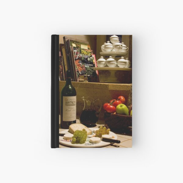Un verre de vin rouge?  A glass of red wine? Hardcover Journal