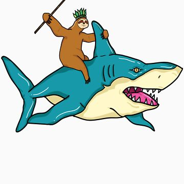Sloth Riding Shark by rkhy