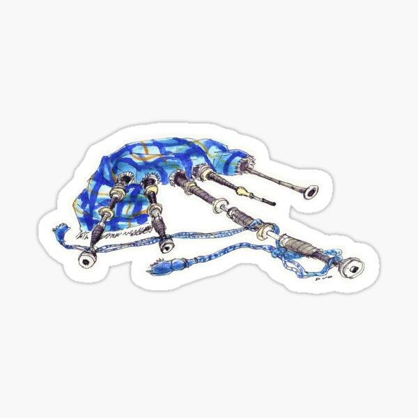 Watercolour Bagpipe Sticker