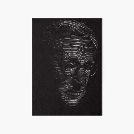 Woody Allen Portrait Art Board Print