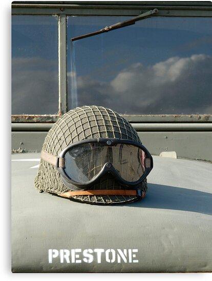 Helmet on World War 2 US Army truck by David Carton