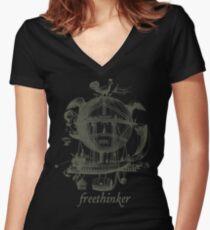 Freethinker Women's Fitted V-Neck T-Shirt
