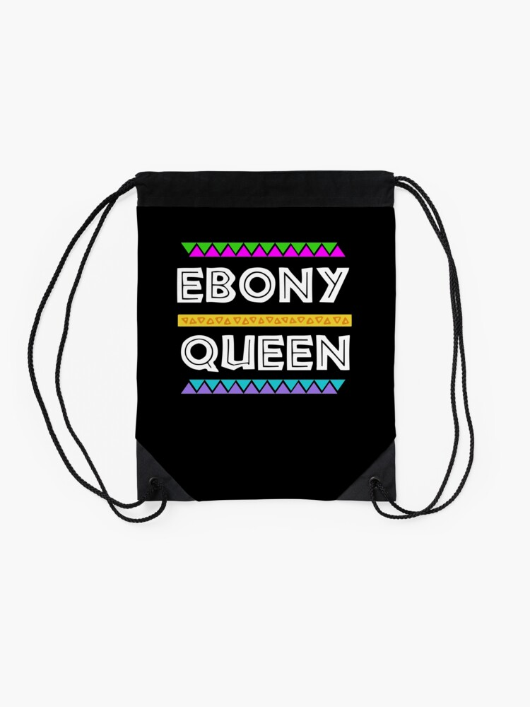 Alternate view of Ebony Queen! Black Pride Gift Drawstring Bag