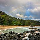 Rainbow at Lumaha'i Beach, Kauai, Hawaii by HealthyTrekking