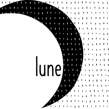 Minimalist Moon Lune Black and White Lines Typo by oursunnycdays