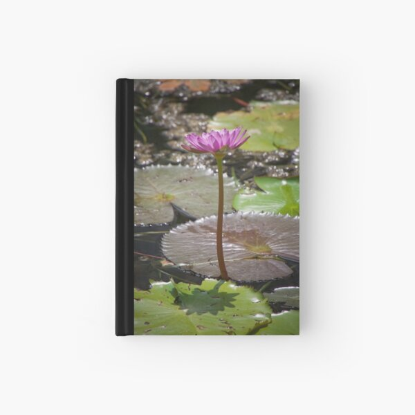 Water Lilly Hardcover Journal