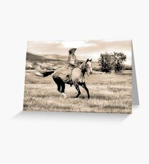 Canter Greeting Card