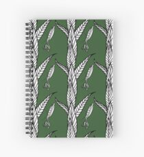 Black And White Preying Mantis On Leaves with Green Background Spiral Notebook