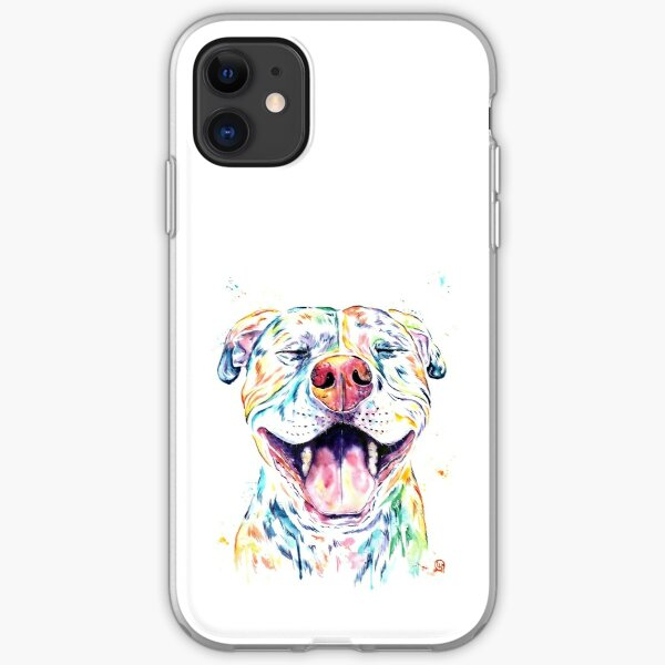 Tango The Smiling Pit Bull iPhone Soft Case