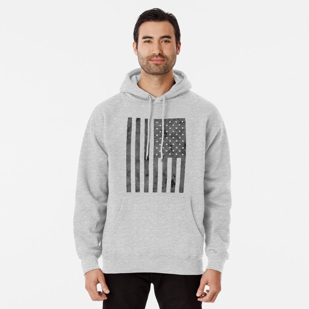 US-Flagge Grunge-Stil Hoodie