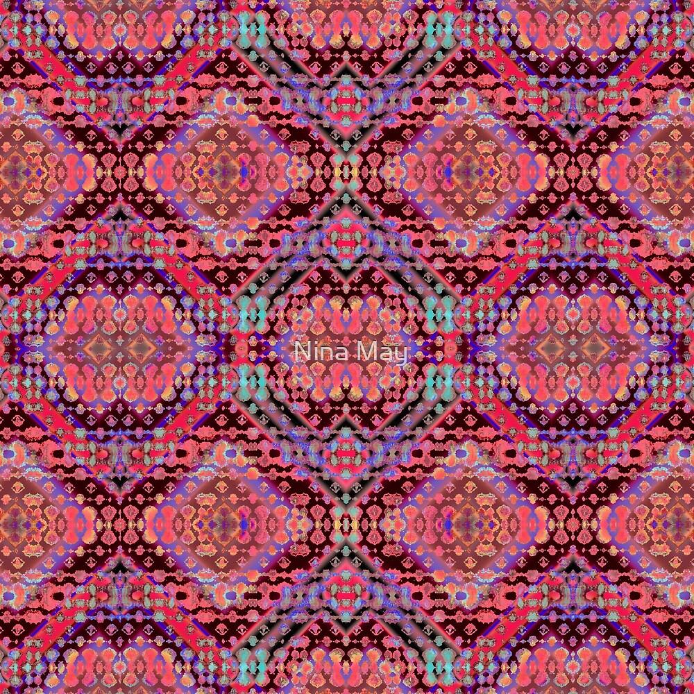Shibori Folk Coral by Nina May