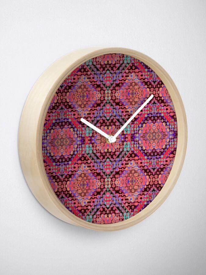 Alternate view of Shibori Folk Coral Clock