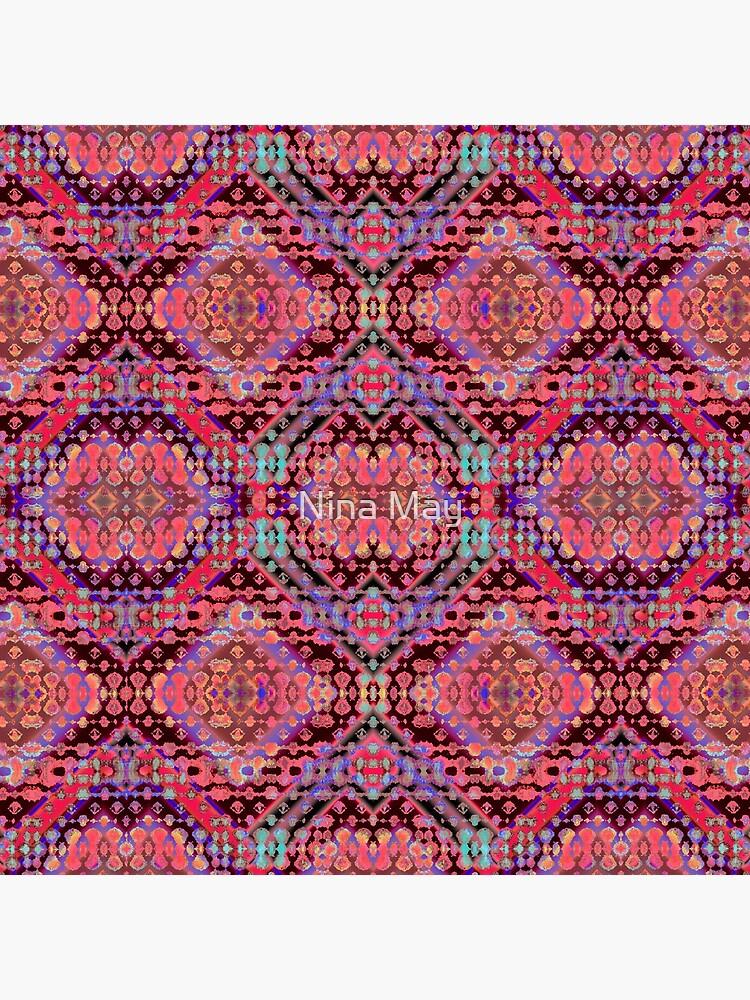 Shibori Folk Coral by ninabmay