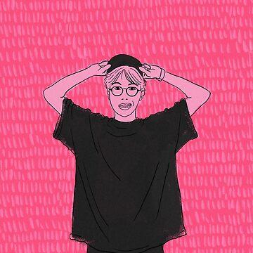 BTS J-Hope Pink Sketch de imgoodimdone