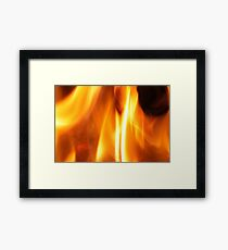 Flames in the Hearth Framed Print