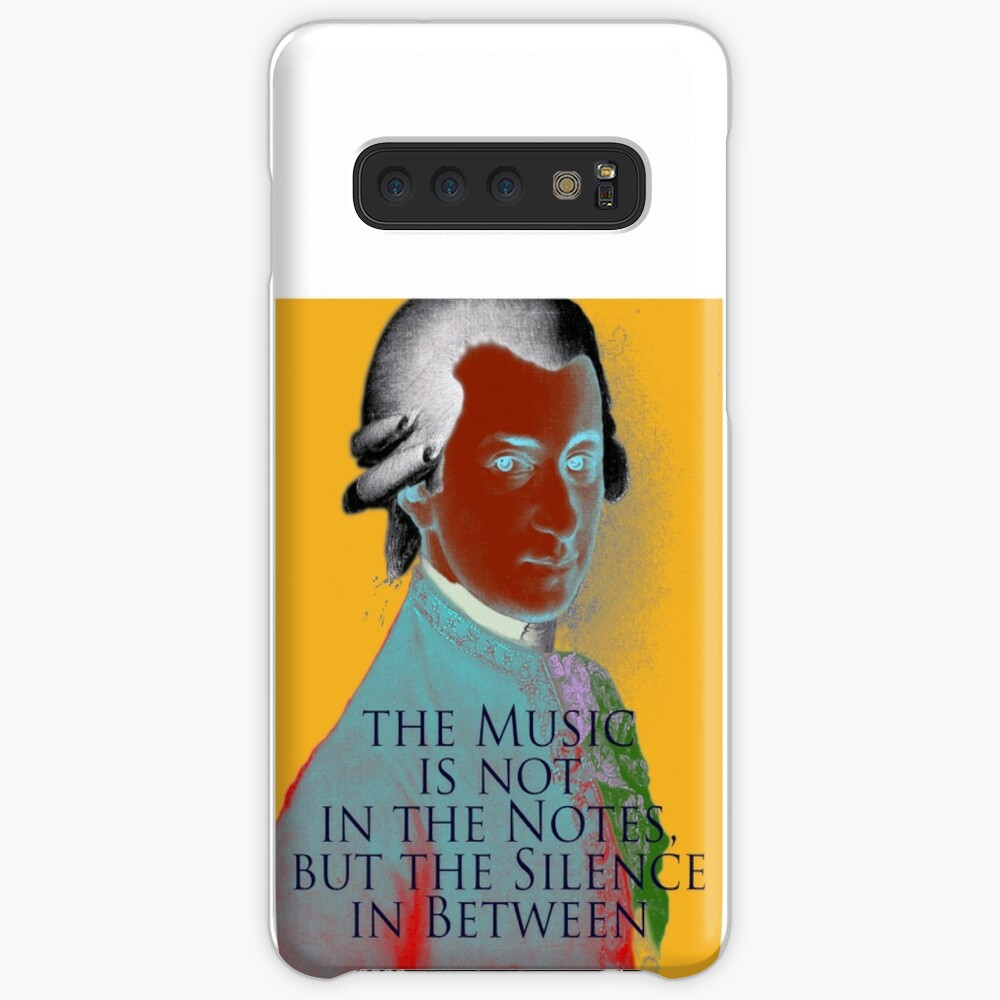 Wolfgang Amadeus Mozart Quote 3 Case & Skin for Samsung Galaxy