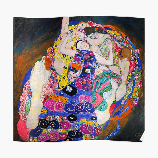 La Vierge Gustav Klimt Poster