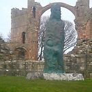 St Cuthberts monument Holy Island,, Lindersfarne priory.. by marieangel