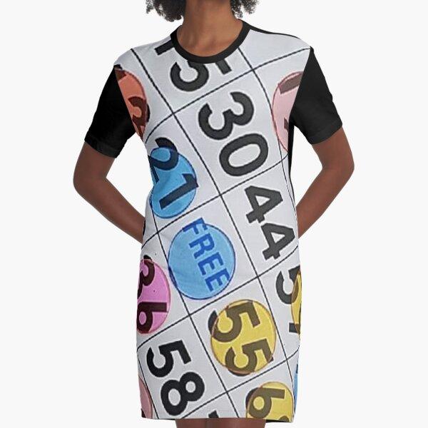 Bingo Fever Graphic T-Shirt Dress