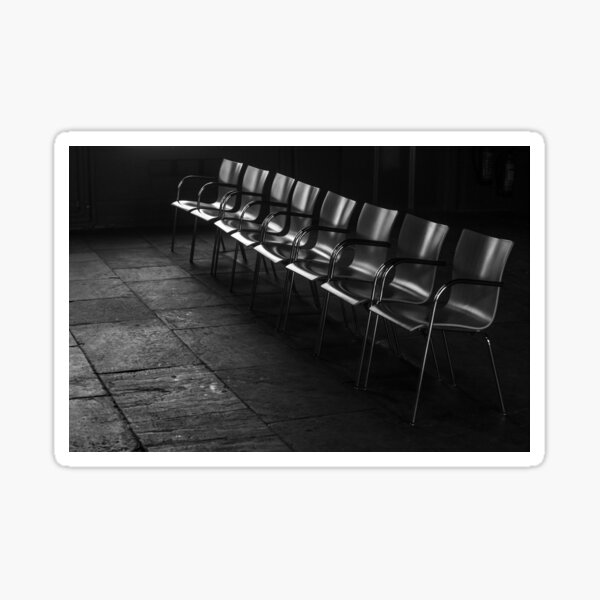 Simple row of chairs Sticker