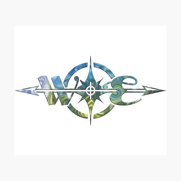 West East Designs swirled compass logo Photographic Print