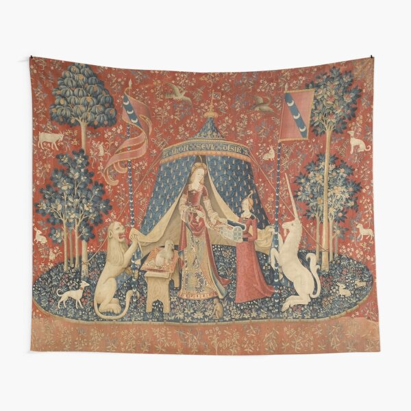 The Lady With A Unicorn  Tapestry