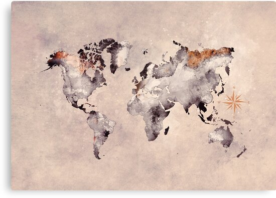 world map grey brown #map #world by JBJart