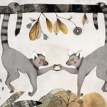 Lemurs In Love by Judith-Loske