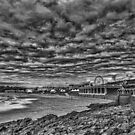 Dramatic Barry Island Monochrome by Steve Purnell