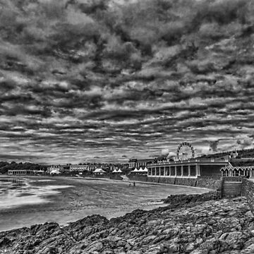 Dramatic Barry Island Monochrome by silversnapper1