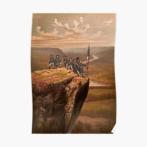 Union soldiers at Point Lookout, Tennessee Poster