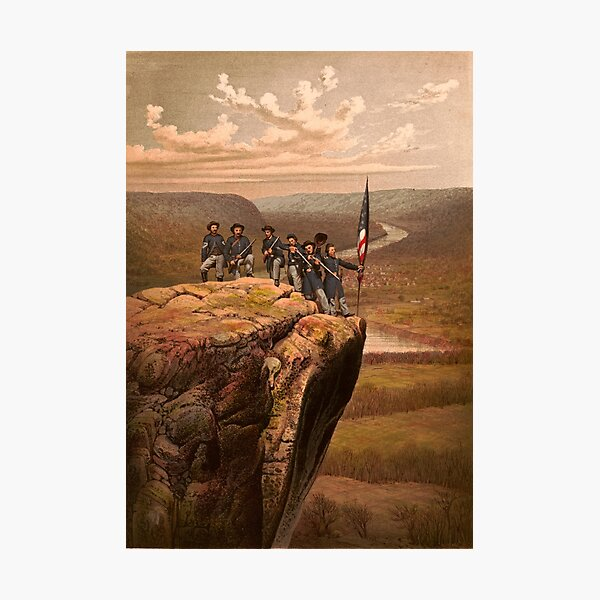 Union soldiers at Point Lookout, Tennessee Photographic Print