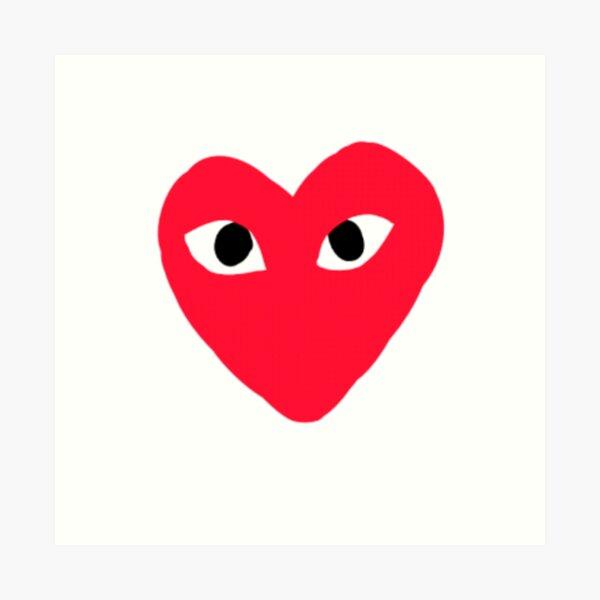 RED HEART EYES Art Print
