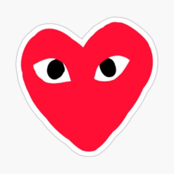 RED HEART EYES Sticker