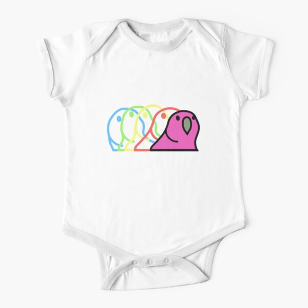 Party Parrot Emoji GIF Short Sleeve Baby One-Piece