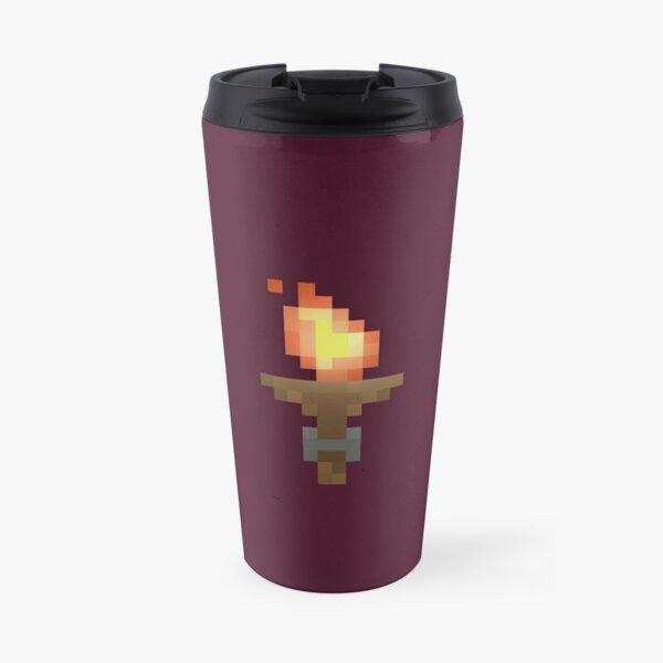 Pixel Art Dungeon Torch Travel Mug