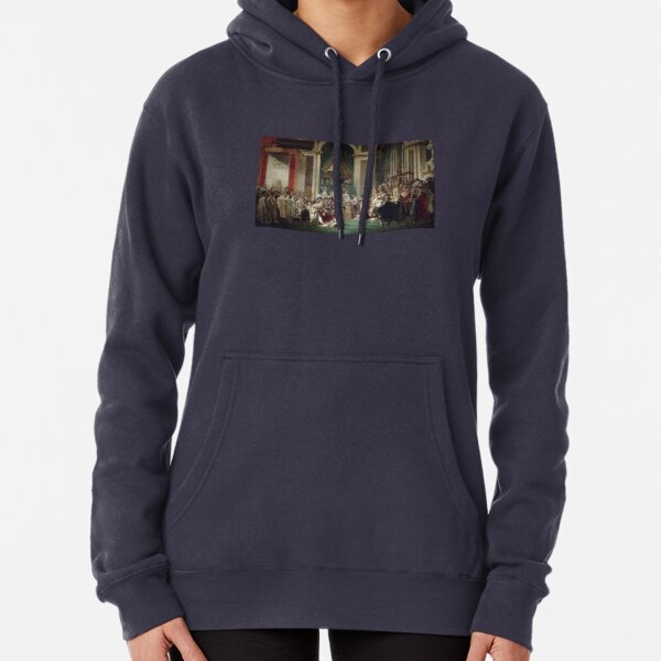 The Coronation of Napoleon and Josephine - Jacques-Louis David Pullover Hoodie